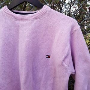 Tommy Hilfiger pink pullover crewneck sweater L